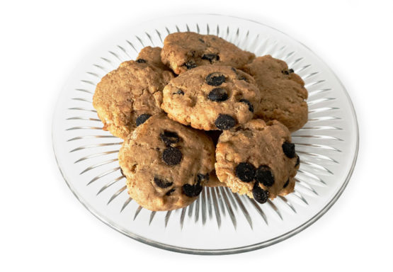 All Natural Gluten Free Carob Chip Cookies